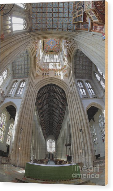 St Edmundsbury Cathedral  Wood Print