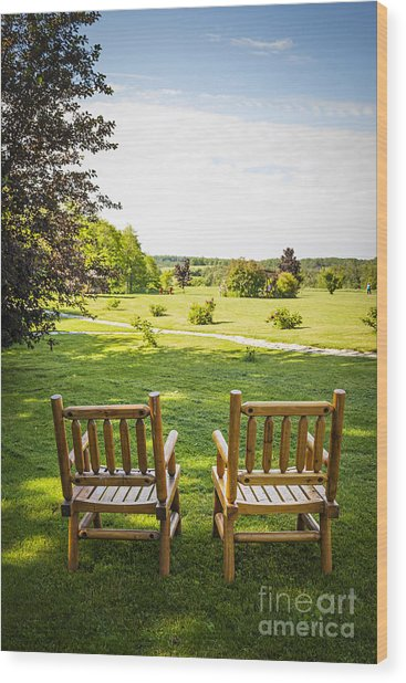 Summer Relaxing Wood Print