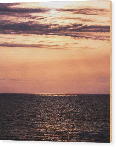 Sunset Wood Print by Amr Miqdadi