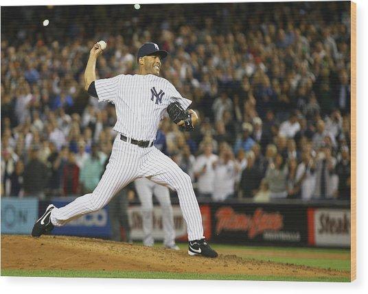 Tampa Bay Rays V New York Yankees Wood Print by Al Bello
