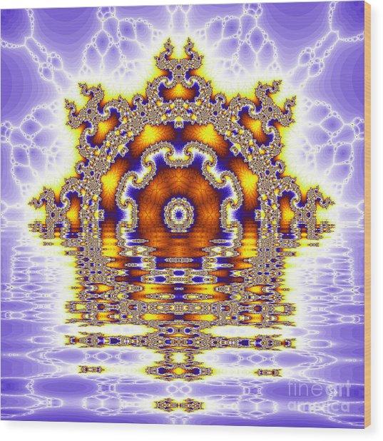 The Kaleidoscope Reflections Wood Print by Odon Czintos