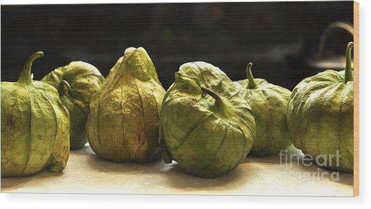 Tomatillos Wood Print