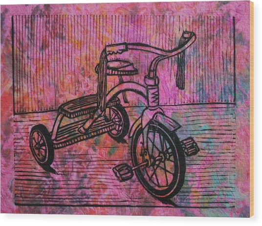 Tricycle Wood Print
