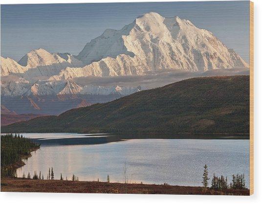 Usa, Alaska, Denali, Mt Wood Print
