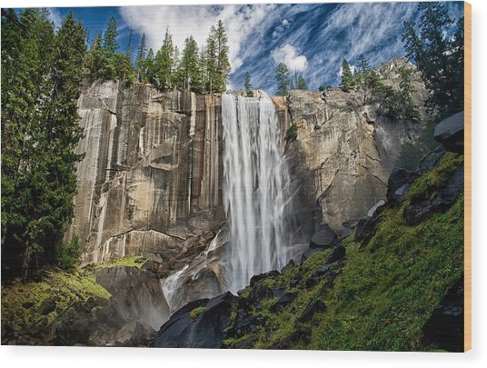 Vernal Falls Wood Print
