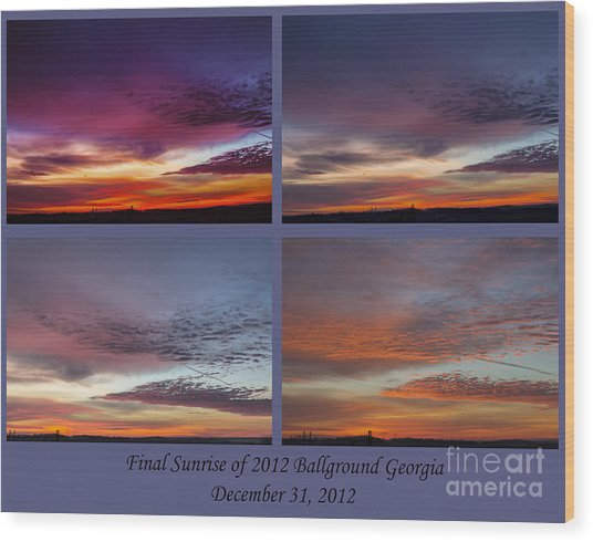 4 Views Of Sunrise 2 Wood Print