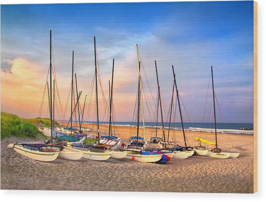 41st Street Sailing Beach Wood Print