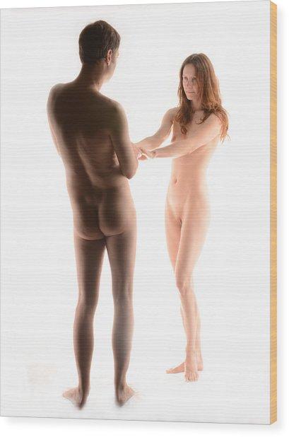 4156 Man And Woman As Couple Wood Print