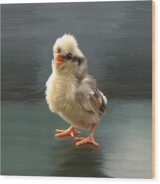 44. Tollbunt Chick Wood Print by Sigrid Van Dort