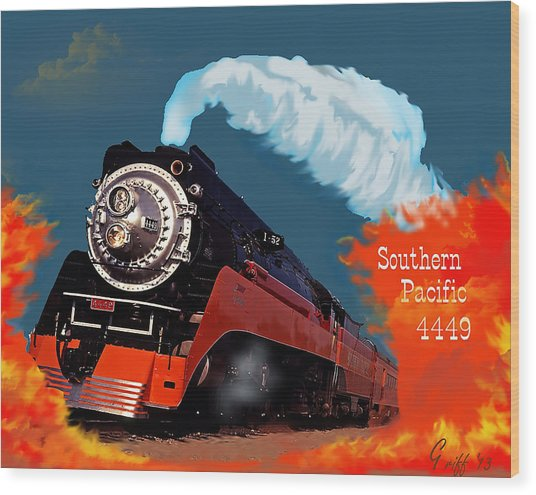 4449 Through The Fire Graphic Wood Print