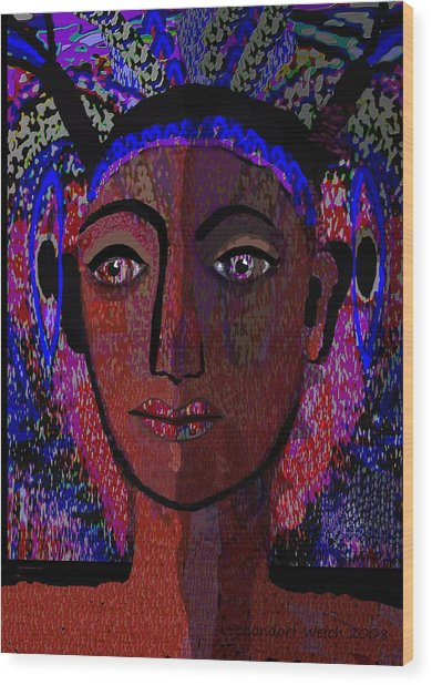 447 - Dark Lady Wood Print by Irmgard Schoendorf Welch