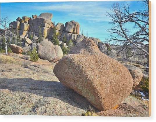 Vedauwoo Rocks Wood Print