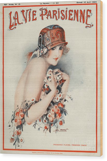La Vie Parisienne  1924 1920s France Wood Print