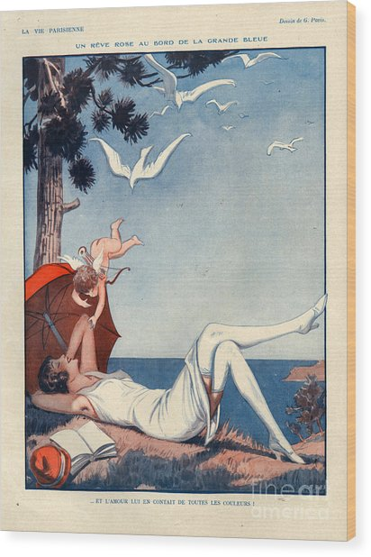 1920s France La Vie Parisienne Magazine Wood Print