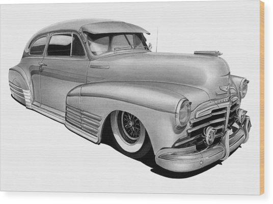 48 Chevy Fleetline Wood Print by Lyle Brown