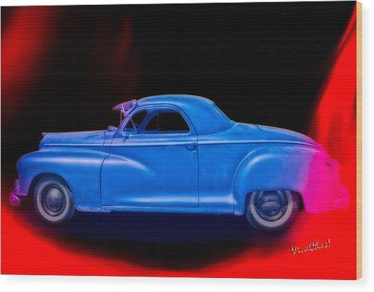 48 Dodge Salesman Coupe Rat Rod Wood Print