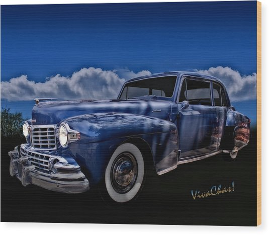 48 Lincoln Continental By Moonlight Wood Print