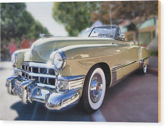 49 Cadillac Convertible Wood Print by Robert Rus