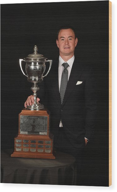 2015 Nhl Awards - Portraits Wood Print by Brian Babineau