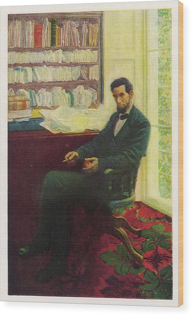 Abraham Lincoln (1809 - 1865) U Wood Print by Mary Evans Picture Library