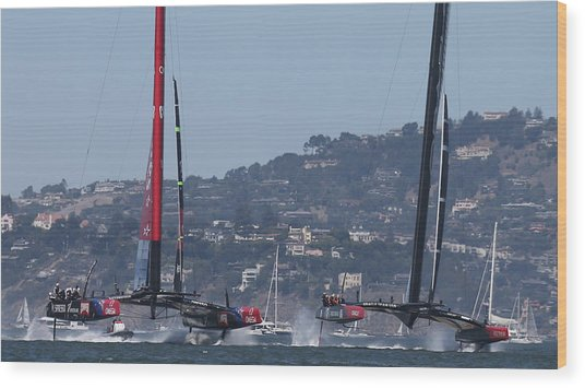America's Cup 34 New Prices Wood Print