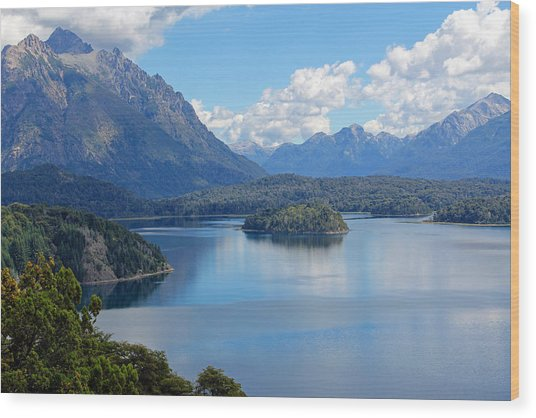 Bariloche Argentina Wood Print by Jim McCullaugh