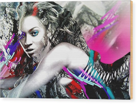 Beyonce Wood Print by Bogdan Floridana Oana