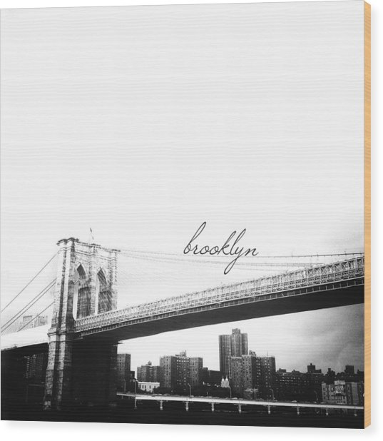 Brooklyn Wood Print
