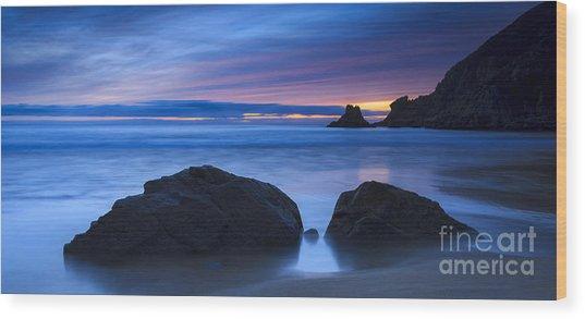 Campelo Beach Galicia Spain Wood Print