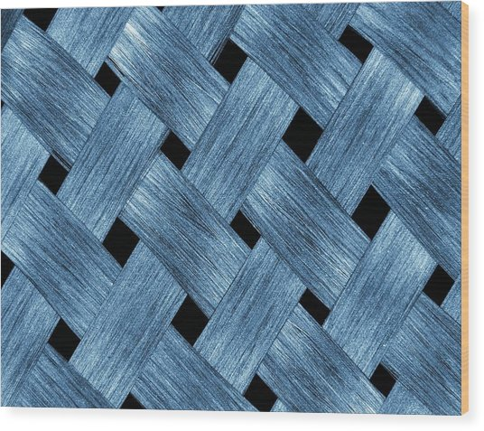 Carbon Fibre Fabric Wood Print by Alfred Pasieka