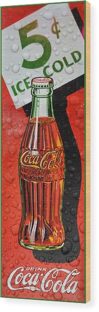 5 Cent Coca-cola From 1886 - 1959 Wood Print