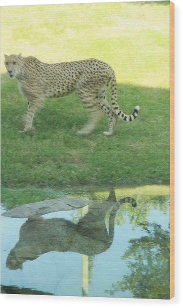Cheetah Wood Print by Tinjoe Mbugus