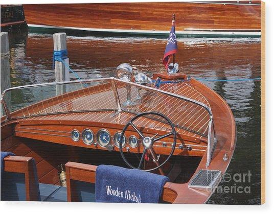 Chris Craft Sportsman On Lake Geneva Wood Print