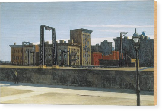 Manhattan Bridge Loop Wood Print