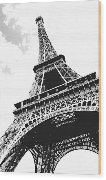 Eiffel Tower Wood Print