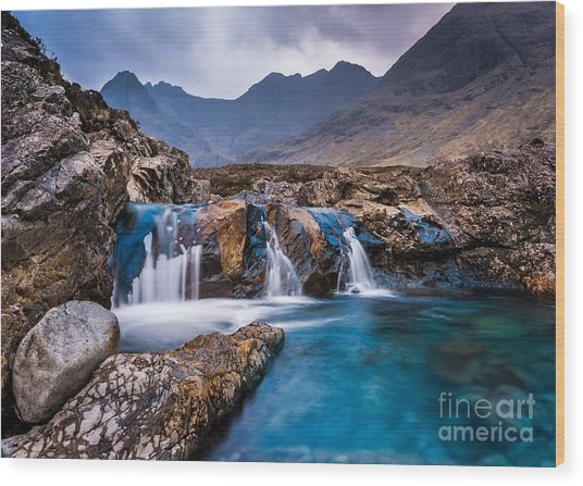 Fairy Pools Wood Print by Maciej Markiewicz