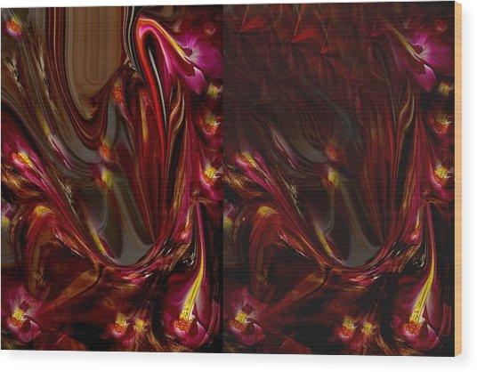Flowers Wood Print by HollyWood Creation By linda zanini