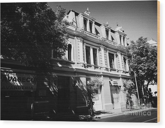 headquarters of the fire department of Santiago Chile Wood Print by Joe Fox