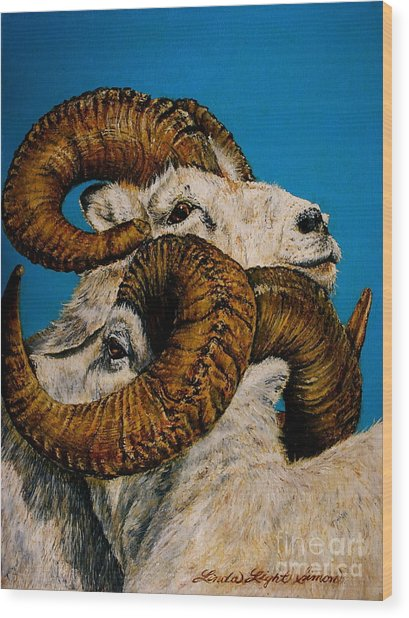 Horns Wood Print