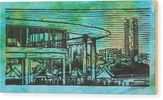 Long Center Wood Print