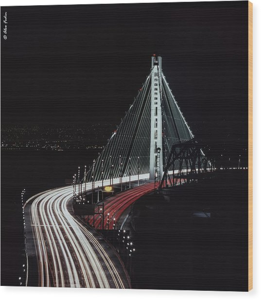 Oakland Bridge Wood Print