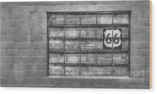 Route 66 Wood Print by Twenty Two North Photography