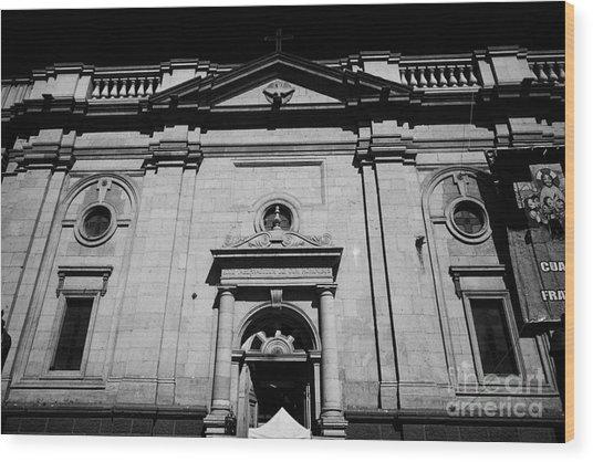 Santiago Metropolitan Cathedral Chile Wood Print by Joe Fox