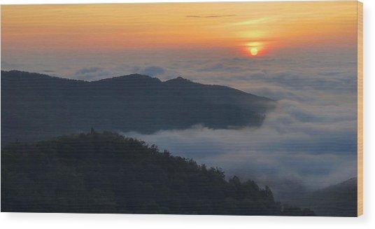 Shenandoah Sunrise Wood Print by Stephen  Vecchiotti