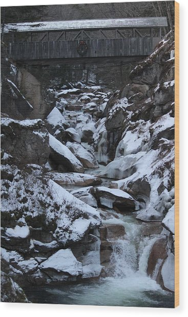 The Flume Gorge  Wood Print
