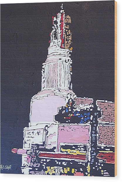 Tower Theatre Wood Print by Paul Guyer