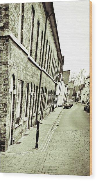 Town Houses Wood Print