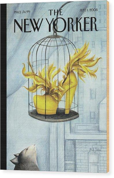 New Yorker September 1st, 2008 Wood Print