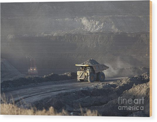 Wyoming Coal Mine Wood Print