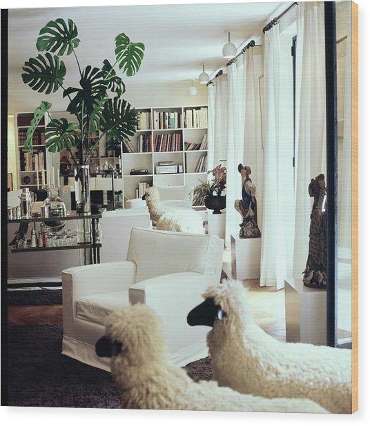 Yves Saint Laurent's Living Room Wood Print